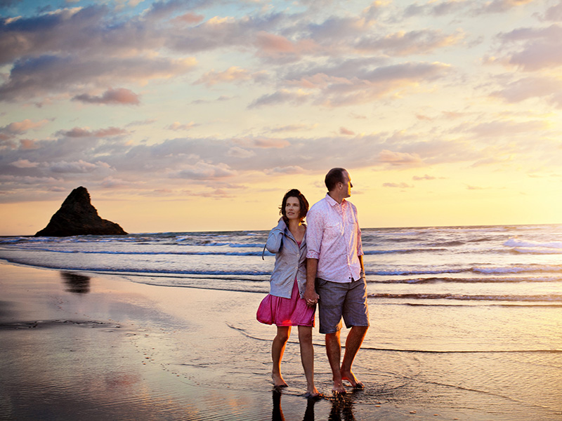 Luxury Escapes Piha Beach at Sunset