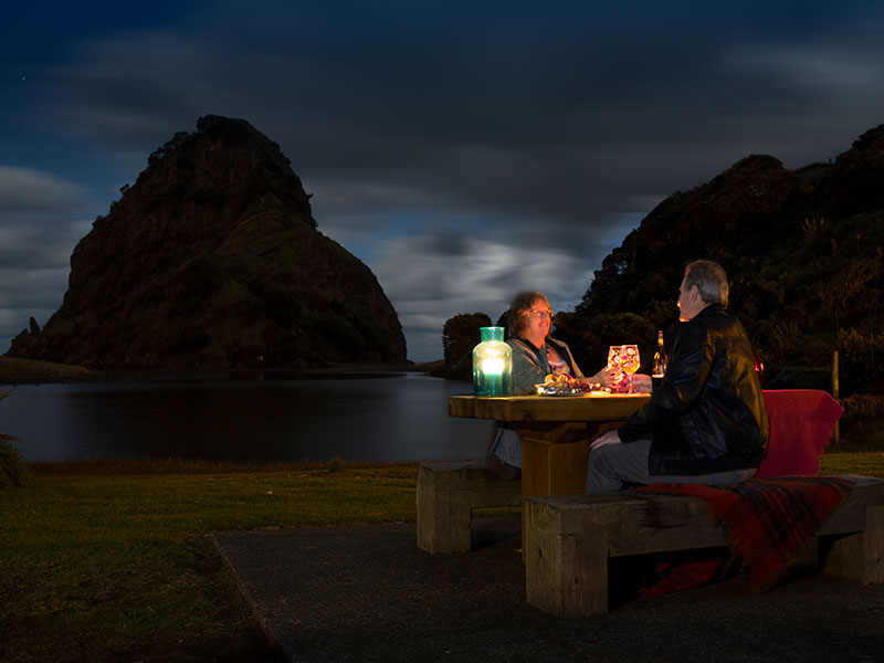 Auckland Beaches Piha Beach by Moonlight Auckland Tours